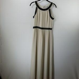 NWT H&M Gray Crochet Details Maxi Dress Size 8